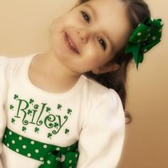 St Patrick's Day ShirtSprinkled with Shamrocks by JustForMeSewing, $29.99