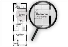 Downstairs Sleeping For Two Real People - Tumbleweed Houses