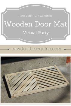 Come join in on the fun as 25 very talented bloggers make their version of the #diyworkshop wooden door mat. You won't be sorry you stopped by!! #DIYWORKSHOP #DIY #doormat #outdoors