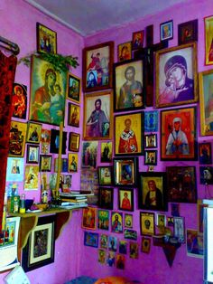 Holy Moly Icon wall!! Capture the spirit of authentic Mexico at http://www.lafuente.com/Mexican-Art/Religious-Folk-Art/