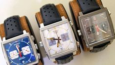 Watches from the Very cool look. Tag Heuer Monaco, Tag Heuer Carrera Calibre, Watch Model, Luxury Watches For Men, Beautiful Watches, Unisex, Vintage Watches, Cool Watches, Fashion Watches