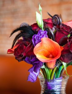 Masquerade wedding  //  wren photography (good for halloween wedding) I love this idea for its color