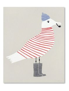 seagulls, pattern, stripes, print, wellies, pipe, sailor, sea side, summer…