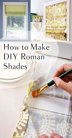 How to Make DIY Roman Shades. DIY, DIY clothing, sewing patterns, quick crafting, tutorials, DIY tutorials.