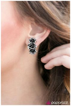 The Remedy - black clip on earrings