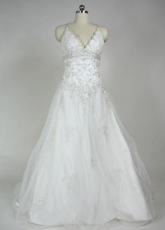 """Check out the """"Estelle"""" dress at http://www.blueskybridal.com"""
