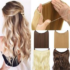 How to bayalage hair Real Natural Thick Long Synthetic Hair Extension - unlimitedeal Buying A Watch One Piece Hair Extensions, Synthetic Hair Extensions, How To Bayalage Hair, Afro, Synthetic Clothes, Straight Wavy Hair, Thing 1, Brown To Blonde, Styling Tools