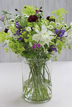 A Bunch for the Weekend-# 58-Mixed Bouquet of British Summer Flowers-Ingrid Henningsson-Of Spring and Summer