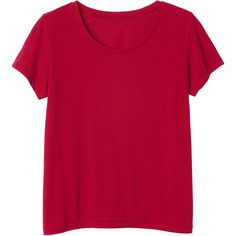 Monki Sine tee (98 ARS) ❤ liked on Polyvore featuring tops, t-shirts, shirts, tees, rasberry red, red t shirt, pink shirts, shirt tops, t shirt and red tee