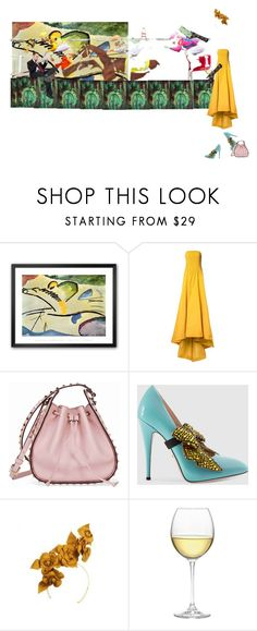 """""""Wassily Kandinsky 1V"""" by diannecollier ❤ liked on Polyvore featuring Oscar de la Renta, Valentino, Gucci, Nordstrom, Black and polyvoreeditorial"""