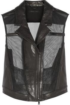 Shop now: Ohne Titel mesh leather vest