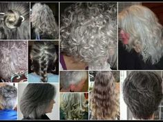 Beautiful ladies with beautiful natural gray hair.