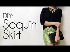 Sew easy, I have the material can not wait to do this!!! DIY: Sequin Skirt