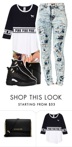 """""""ig 🤕"""" by itssaiv0y ❤ liked on Polyvore featuring MICHAEL Michael Kors and Victoria's Secret"""