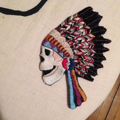grateful dead indian embroidery
