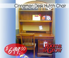 Cinnamon Desk Hutch Chair #roomstogrow_RI  #Closeout