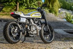 World champion bike builder Fred 'Krugger' Bertrand has turned his attention to the Ducati Scrambler. It's a bike you just want to jump on and ride.