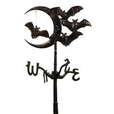 Whitehall Black Halloween Bat Storage Rooftop Weathervane