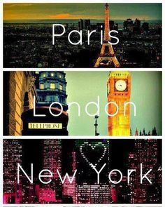 PARIS LONDON  NEW YORK  <3