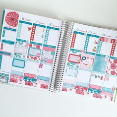 This weeks spread #beforethepen using the June monthly kit from @elliebethdesignsuk ❤️ Looove these florals!!