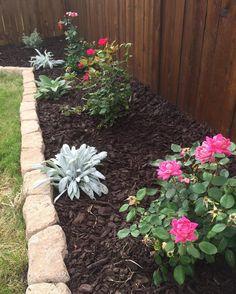 40 Front Yard Side Yard and Backyard Landscaping Ideas Mulch Landscaping, Small Backyard Landscaping, Landscaping Ideas, Backyard Ideas, Sloped Backyard, Inexpensive Landscaping, Mailbox Landscaping, Lawn Sprinklers, Diy Garden