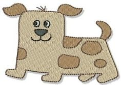 Playtime Dog - 4x4 | Tags | Machine Embroidery Designs | SWAKembroidery.com Bunnycup Embroidery