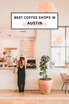 Best Coffee Shops In Austin Best Coffee In Austin, Coffee Shops Austin, Best Coffee Shop, Road Trip Texas, Texas Travel, Travel Usa, Food Travel, North Austin, Austin Tx