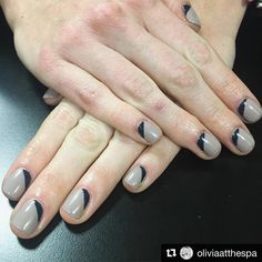 "The Spa At River Ridge on Instagram: ""#Repost from our Manicurist Olivia (@oliviaatthespa): ""Loving this Shellac I did today on @apavolino using @cndworld #FieldFox & #IndigoFrock!""❤️"""