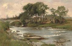 La roue du moulin de William Bradley Lamond (1857-1924, United Kingdom)