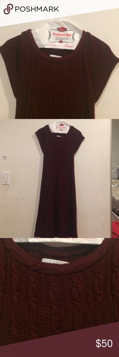 Calvin Klein burgundy sweater dress Calvin Klein burgundy sweater dress. Size medium. In great condition. Perfect for winter Calvin Klein Dresses