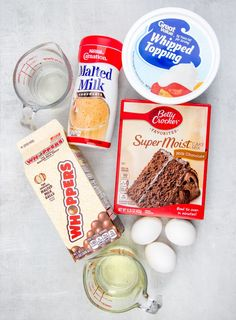 Whopper Cake (aka Malted Milk Ball Cake) is a moist, dressed up chocolate cake mix that is topped with a malted whipped topping. Chocolate Malt Cake, Chocolate Cake Mixes, Cake Cookies, Cupcake Cakes, Cupcakes, Malted Milk Balls Recipe, Whopper Cake, Milk Recipes, Dessert Recipes