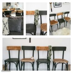 Vend 4 chaises bistrot D'origine Entièrement rénovée 65 euros l'unité soit 260 euros les 4