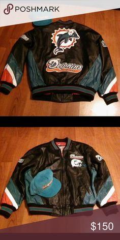 ecfd4ad6f Shop Men s carl banks Black Orange size L Bomber   Varsity at a discounted  price at Poshmark. Description  Carl Banks Leather jacket and matching  SnapBack ...