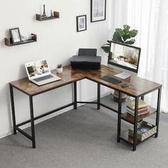 Williston Forge | Wayfair.ca Table Office, Mesa Home Office, Home Office Space, Home Office Desks, Office Workspace, Corner Office Desk, Rustic Office Desk, Cheap Office Desks, Office With 2 Desks