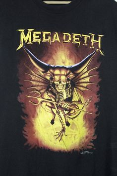 MEGADETH countdown to extinction shirt - vintage - brockum 1993 Vic Rattlehead, Countdown To Extinction, Kiss Band, Cursed Child Book, Music Bands, Vintage Shirts, Rock N Roll, Heavy Metal, Album Covers