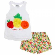Shorts Mayoral Happy Fruit, Summer Dresses, Shorts, Fashion, Shopping, Moda, Summer Sundresses, Fashion Styles, Fashion Illustrations