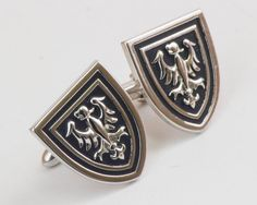 Vintage Cufflinks Medieval Knight Shield Cuff by CuffsandClips, $24.50