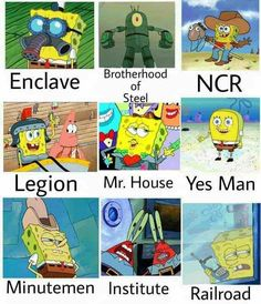The Fallout factions • /r/gaming