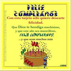 feliz cumpleanos | ... feliz cumpleaños, Tarjeta de cumpleaños, Happy birthday, Feliz día
