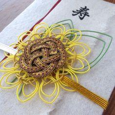 輝く麻の祝儀袋 ~ひまわり~ |レターセット|ハンドメイド通販・販売のCreema