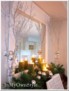 Sparkly Branches  These beautiful branches will help create your home into a winter wonderland! They will add the perfect touch to any of your holiday decorating. For the tutorial visit In My Own Style.