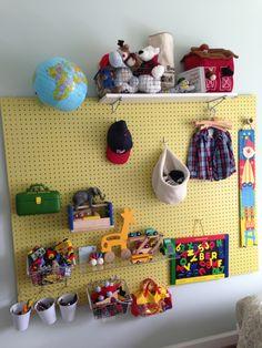 JB's pegboard toy storage