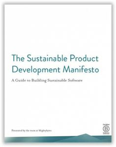 The Sustainable Product Development Manifesto