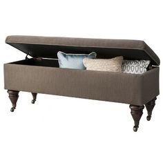 end of bed storage bench - grey : target | interior design