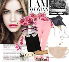 """""""Down at the cafe."""" by leonaaamartin on Polyvore"""