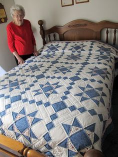 Jayne's Quilting Room: Grandma's Quilts  Ohio Star and Stepping Stones.