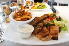 Paradis Du Fruits Chicken Kebab and Salmon Pita
