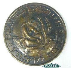 Pasarel - Pal-Bell Copper Wall Plaque, Israel, 1950's $135.00