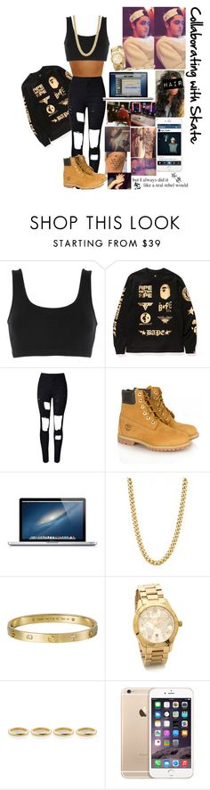 """""""Collaborating with Nate (Skate) xx"""" by believe2209 ❤ liked on Polyvore featuring adidas Originals, A BATHING APE, Timberland, Giallo, Michael Kors and Estelle Dévé"""