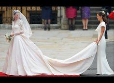 Kate's dress designed by Sarah Burton for Alexander McQueen